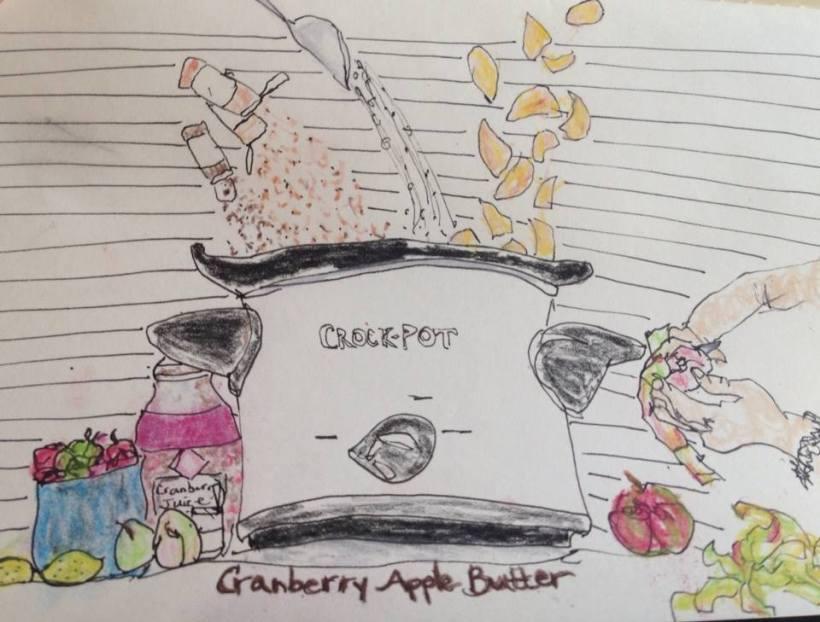 apple butter art